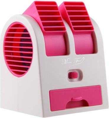 stargale Portable Mini Air Conditioner Dual Port Bladeless USB Fan Pink, White