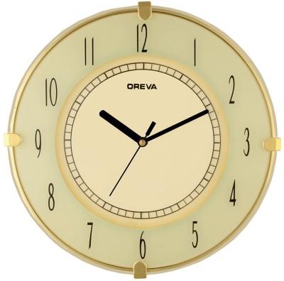 Ajanta Analog Wall Clock(Ivory, With Glass)
