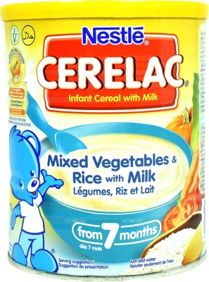 Nestle Mixed Vegetables & Rice With Milk Baby Food 400g Cereal(400 g)
