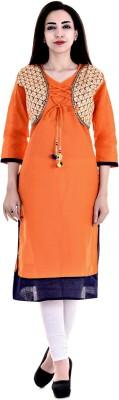 Payal Casual Solid Women Kurti(Orange)