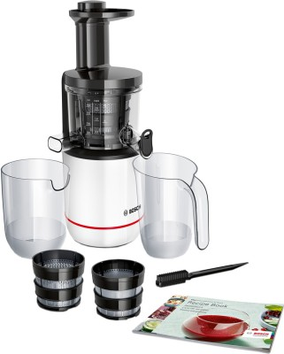 BOSCH Comfort Slow Juicer MESM500W 150 W Juicer (2 Jars, White)