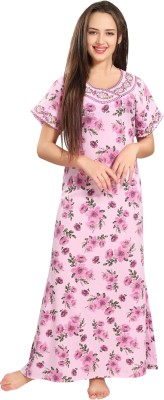 AV2 Women Nighty(Pink)