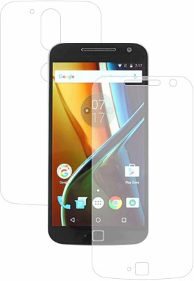 Case Creation Front and Back Screen Guard for Motorola Moto G4+ (4th Gen)(Pack of 2)