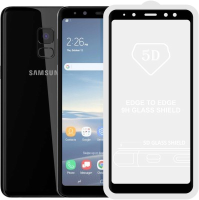 Case Creation Edge To Edge Tempered Glass for Samsung Galaxy A6 A600(Pack of 1)
