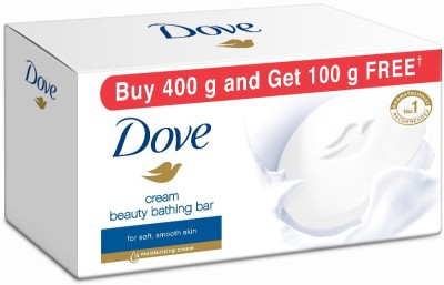 Dove Cream Beauty Bathing Bar(400 g, Pack of 4)