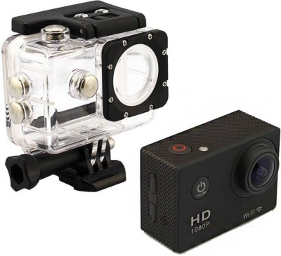 Doodads Action Pro Waterproof Helmet camera 2 inch LCD Display Full-HD (Black) Sports and Action Camera(Black 12 MP) 1