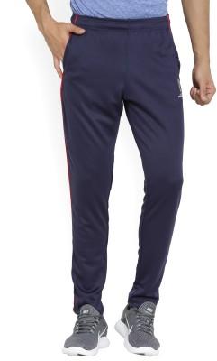 4 SPEED Solid Men Dark Blue, Grey Track Pants