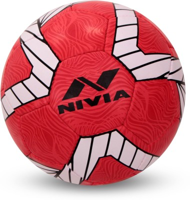 Nivia World (England) Football - Size: 5(Pack of 1, Red)