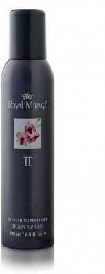 Royal Mirage II Refreshing Perfumed Body Spray Deodorant For Men & Women -200ml Body Spray  -  For Men & Women(200 ml) Flipkart