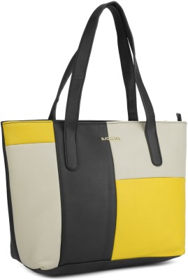 SUGARUSH FOXGLOVE Black, Grey, Yellow Tote at flipkart