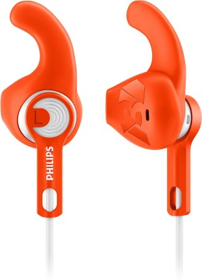 Philips 4300 Headphone(Orange, White, In the Ear)