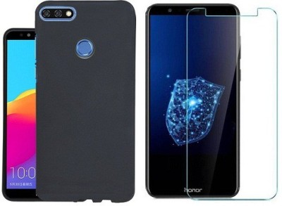 7Rocks Cover Accessory Combo for Huawei Honor 7C Black,Transparent