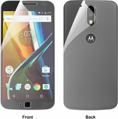 Case Creation Front and Back Screen Guard for Motorola Moto G4 Plus 2016(Pack of 2)