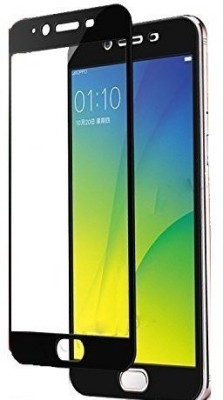 SUNNY FASHION Tempered Glass Guard for 9H 5D 0.3mm Toughened Tempered Glass Screen Protector forOppo A57 - Black(Pack of 1)