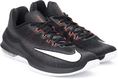 Nike AIR MAX INFURIATE LOW Basketball Shoes For Men(Black, Grey) 1