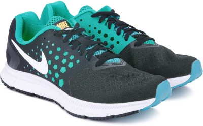 Nike ZOOM SPAN Running Shoes For Men(Black, Green) 1