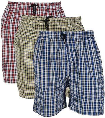 RiverHill Checkered Men Multicolor Bermuda Shorts