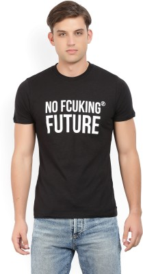 French Connection Printed Men Round Neck Black T-Shirt at flipkart