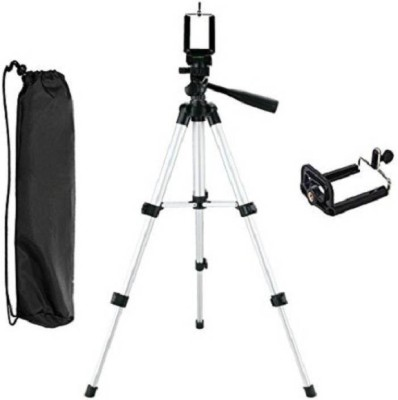 BJOS Universal Flexible 3110 Tripod With 3-Way for Digital Camera Video Camcorder Tripod Kit ZX2 Tripod (Silver, Supports Up to 1500 g) Tripod(Silver & Black, Supports Up to 1500 g) 1