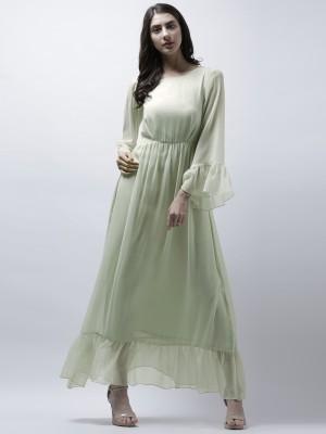 Eavan Women Fit and Flare Light Green Dress
