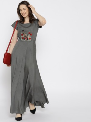 Varanga Women's Maxi Grey Dress