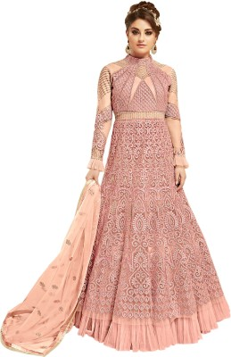970b87403e 74% OFF on Vaidehi Fashion Net Embroidered Semi-stitched Salwar Suit  Dupatta Material on Flipkart | PaisaWapas.com
