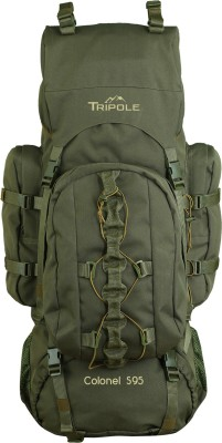 Tripole Colonel (With Detachable Day Pack) Rucksack  - 95 L(Green)