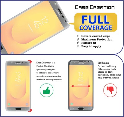 Case Creation Front and Back Screen Guard for Samsung Galaxy J7 Duo(Pack of 2)
