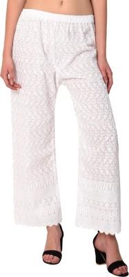 VTV Relaxed Women White Trousers