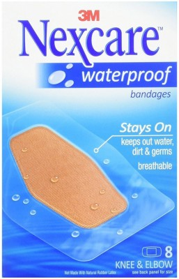 Nexcare Waterproof Clear Bandages, Knee & Elbow-8ct Bandage Protector(Adult & Kids Foot)