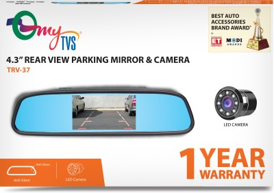 myTVS TRV-37 4.3 Inches Rear View Mirror & Reverse Camera with 2yr Warranty Black LED(10.9 cm)