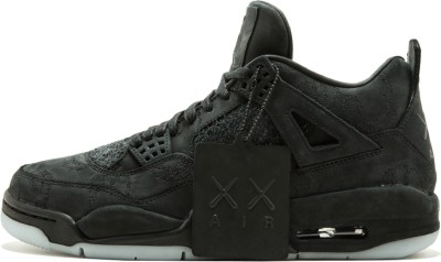 cheap for discount 08c97 2e0b5 the nike air jordan 4 retro kaws Basketball Shoes For Men(Black)