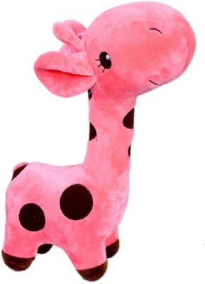 Mappy Medium Hanging Light Rose Cute Giraffe Soft & Plush toy as Gift - 34 cm(Light Rose)