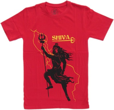 NJ Retails- Little Generation Printed Men's Round Neck Red T-Shirt