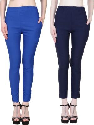 Manash Fashion Slim Fit Women Dark Blue Trousers