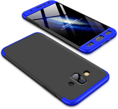 Tommcase Back Cover for Samsung Galaxy J7 Duo(Black Blue, Hard Case)