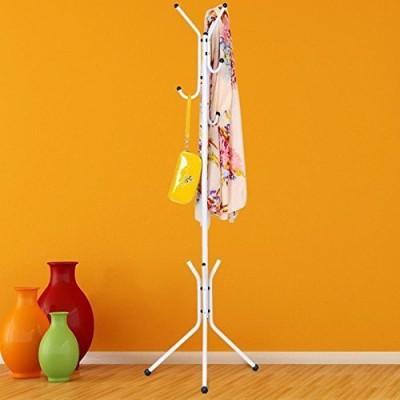 House of Quirk Steel Floor Cloth Dryer Stand COAT_RACK_WHI(1 Tier)