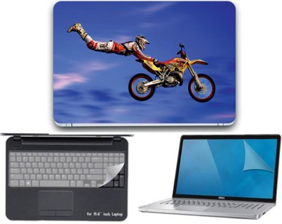 GALLERY 83 bike sport wallpaper 3 in 1 combo pack with laptop skin sticker decal, key guard, Screen protector all are laptop 15.6 inch Combo Set 3339 vinyl Laptop Decal 15.6 Combo Set