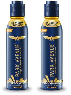 Park Avenue Good Morning Intense Original Collection Perfume Spray 150ML Each (Pack of 2) Perfume Body Spray  -  For Men & Women  (300 ml, Pack of 2)