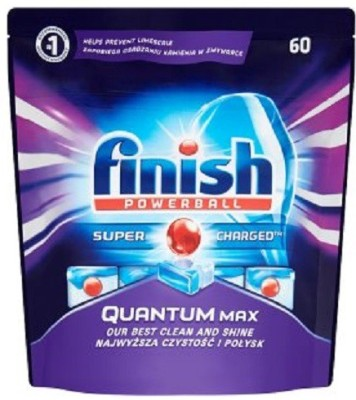 Finish Power Ball Super Charged Quantum Dishwashing Tablets 60's Dishwashing Detergent(930 g)
