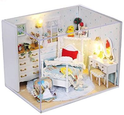 KADAM Elegant Beautiful Princess Bedroom Series 3D Mini DIY Miniature Kit Creative Room With Furniture & Accessories - Perfect Creative DIY Gift for Kids, Children, Teens, Friends, Families, Birthday/Valentine