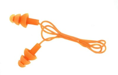 QUINERGYS ™ Florida Orange - Soft Silicone Ear Cover Gel Corded String Swimming Earplugs for Adult and kids Ear Plug(Orange)