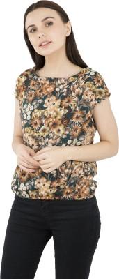Sangrohi Casual Short Sleeve Floral Print Women Multicolor Top Sangrohi Women's Tops