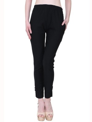 Manash Fashion Regular Fit Women Black Trousers