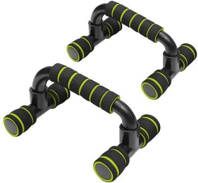 Leosportz Light Weiht With Floor Grip Handy Durable Pushup bar Push-up Bar(Black, Green)