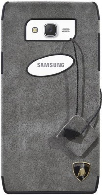 Coverage Back Cover for Samsung Galaxy J7 - 2015(Grey, Artificial Leather, Rubber)