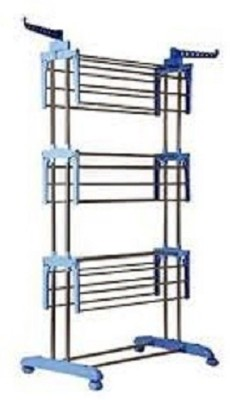 Benesta Gullwing Steel Floor Cloth Dryer Stand(Silver)