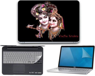 Gallery 83 ® radha krishna wallpaper 3 in 1 combo pack with laptop skin sticker decal, key guard, Screen protector all are laptop 15.6 inch Combo Set 3313 vinyl Laptop Decal 15.6 Combo Set