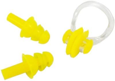 QUINERGYS Silica Gel Swim Earplugs and Swim Nose Clip Ear Plug & Nose Clip(Yellow)
