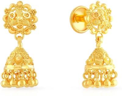 Malabar Gold and Diamonds ERCOVM0010 Yellow Gold 22kt Jhumki Earring